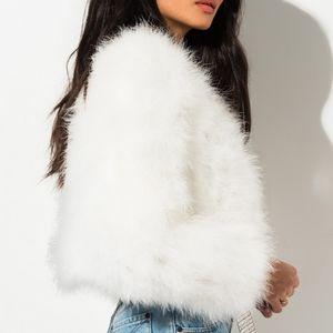 SNOW BUNNY Faux Fur Luxury Designer Blazer Jacket